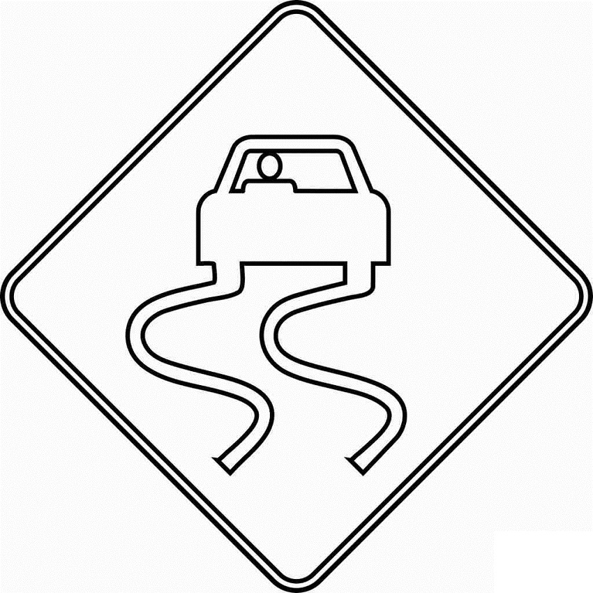 Stop Sign Coloring Page Traffic Signs Coloring Pages 8 M Canada Road Signs Transport Stop